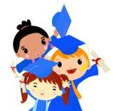 Three graduation Kids Stock Photo