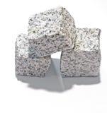Three granite blocks Royalty Free Stock Photo