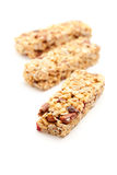 Three Granola Bars Isolated on White Royalty Free Stock Image