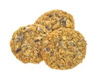 Free Three Granola Cookies On White Background Stock Photo - 23264640