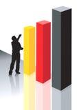 three graphical blocks  Stock Photo