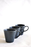 Three Gray Cups Royalty Free Stock Photo