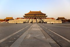 Three Great Halls. Forbidden City. Beijing, China. stock photos