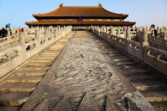 Three Great Halls. Forbidden City. Beijing, China. Royalty Free Stock Images