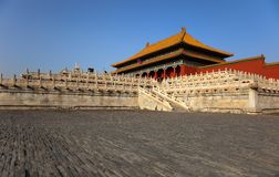 Three Great Halls Palace. Forbidden City. China Stock Photo