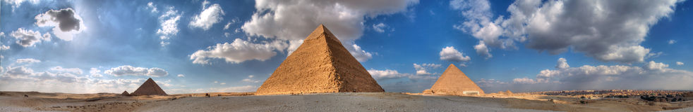 The Three Great Pyramids of Giza Royalty Free Stock Images