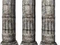 Three Greek Columns Stock Images