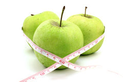 Three green apple Stock Photo