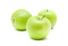 Free Three Green Apples Stock Photos - 13697103