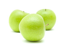 Free Three Green Apples Stock Photos - 13697113