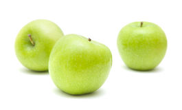 Free Three Green Apples Royalty Free Stock Photo - 13697115