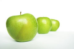 Three Green Apples Royalty Free Stock Photos