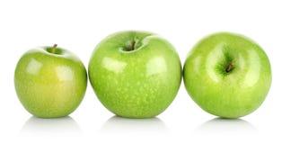 Three green apples  Stock Image