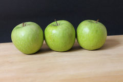 Three Green Apples Stock Images