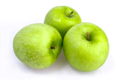 Three green apples Stock Image