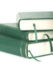 Three green blank books with bookmarks Royalty Free Stock Image