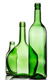 Three green bottles Stock Image