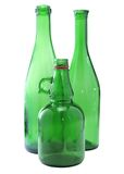 Three green bottles Royalty Free Stock Images