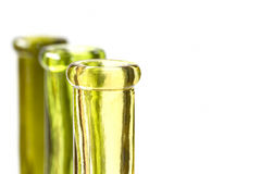 Three green bottles Royalty Free Stock Photo