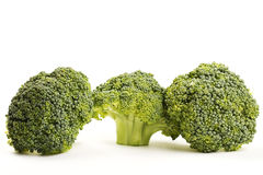 Three green broccoli Stock Images
