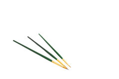 Three Green Brushes Royalty Free Stock Photography