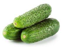 Three green cucumber Stock Photos