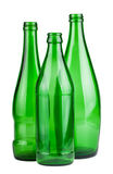 Three green empty bottles Royalty Free Stock Photography