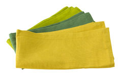 Three green napkins Royalty Free Stock Photography