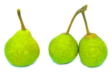 Three green pears Stock Images