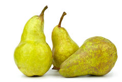 Three green pears Stock Image
