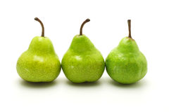 Three green pears Stock Image