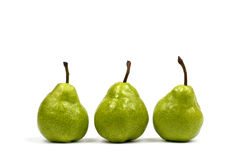 Three Green Pears stock photo
