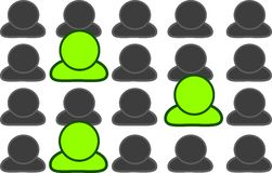 Three green people Stock Image