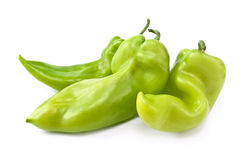 Three green pepper Stock Photography