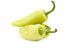 Three green pepper Stock Photos
