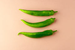 Three green peppers Royalty Free Stock Photos