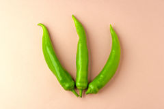 Three green peppers Royalty Free Stock Photography