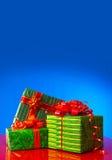 Three presents Stock Photos