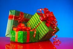 Three presents Stock Images