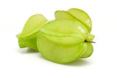 Three green star fruits Royalty Free Stock Image