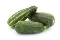 Three green zucchini Royalty Free Stock Photos