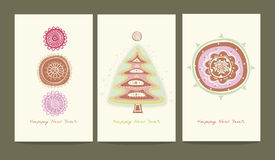 Three greeting cards Stock Image