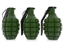 Three Grenades In Green Color Stock Illustration