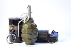 Three grenades Stock Photo
