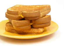 Grilled cheese sandwiches Stock Photos