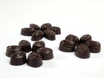 Three groups of chocolates 2 Royalty Free Stock Image