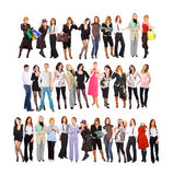 Three groups of people Stock Photo