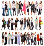Three groups of people Royalty Free Stock Photos