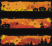 Three grunge halloween  banners Royalty Free Stock Images