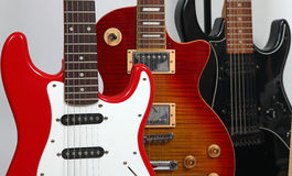 Three guitars Royalty Free Stock Photos